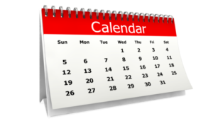 Generic Clip Art Of Calendar With Red Heading